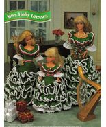 "Barbie 11-1/2"" Fashion Doll Xmas Tree Fireplace Dress Angel Crochet Pattern - $12.99"