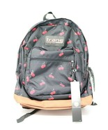 "Trans by JanSport 17"" Backpack Black Cherry Print Shoulder School Bag NWOT - $29.67"