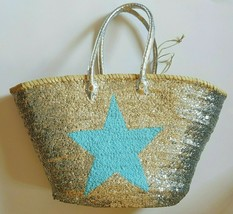 Sale Basket sequined with blue heart