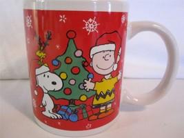 Ho Ho Ho Santa Peanuts Snoopy and Woodstock Ceramic Coffee Mug By Galeri... - $9.46
