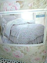 Simply Shabby Chic Duchess Blossom Twin COMFORTER Set Pink Tan  Cottage Floral image 10