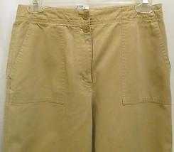 Talbots Size 6 Khaki Cotton Blend Womens Pants - $24.74