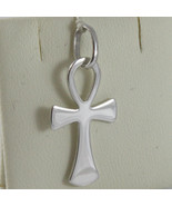 SOLID 18K WHITE GOLD, ANKH CROSS OF LIFE PENDANT, LENGTH 1,1 IN MADE IN ... - £169.23 GBP