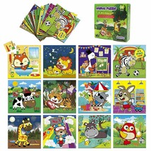 Kidepoch Puzzles for Toddlers - 16-in-1 Animal Puzzle Set for Kids Ages 3+ - $24.50