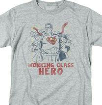 Superman T-shirt Working class hero retro DC comics distressed tee SM1951 image 3