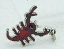 VTG Silver Tone Red Enamel Lobster Pendant - $19.80