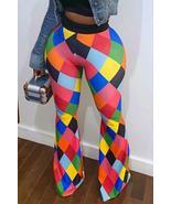 Trendy Color-lump Multicolor Pants - $25.16