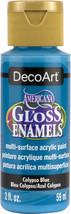 Americana Gloss Enamels Acrylic Paint 2oz-Calypso Blue - $8.50