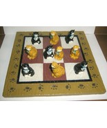 CATS KITTENS Tic Tac Toe Game Board Kitty Playing Pieces Resin Toy Vintage - $28.49