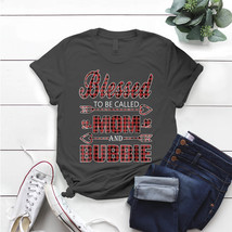 Blessed To Be Called Mom And Bubbie Buffalo Plaid T- Shirt Birthday Funn... - $15.99+