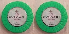 Bulgari Au The Vert Green Tea Soap - 1.76 oz/50 g each - Lot of 2 - $13.89
