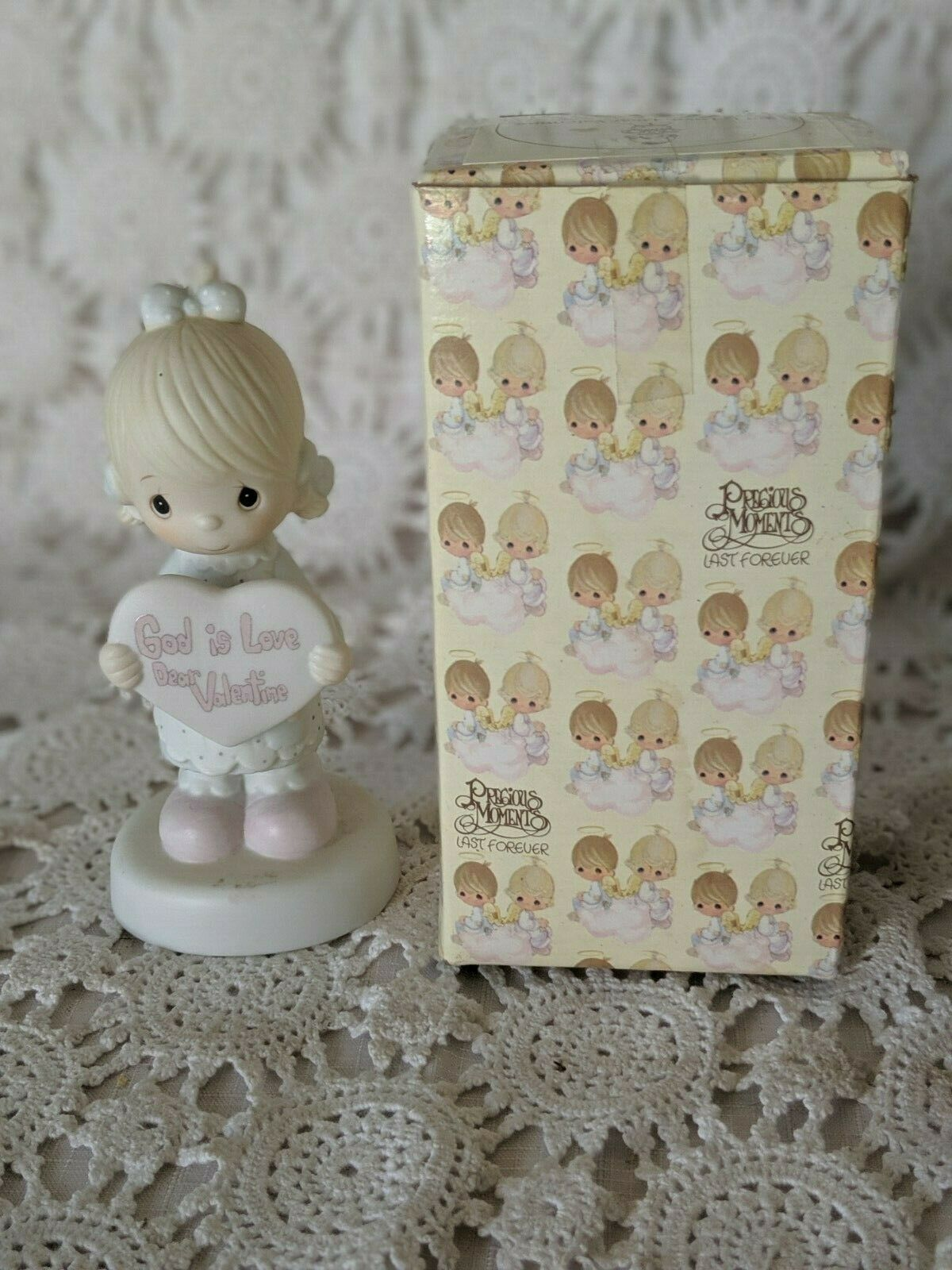 Primary image for Enesco Precious Moments God Is Love Dear Valentine Figure 1981