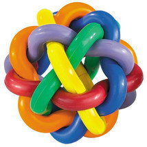 Hard Rubber Dog Toy Knobbly Colorful Wobbly Large 4 Inch Tough Toys for ... - £10.61 GBP