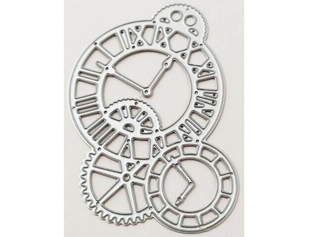 Steampunk Clock Gears Die