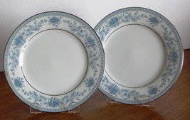 "Noritake BLUE HILL 2 - 6.25"" BREAD & BUTTER PLATES Contemporary China 24... - $11.63"