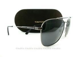 59024dc8865 New Tom Ford Sunglasses TF377 Edward 09D Gunmetal Black FT0377 S Polarized  -  172.00
