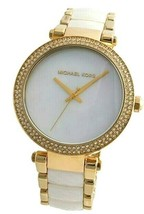 Michael Kors MK6400 Parker White Mother of Pearl  Dial Gold  39mm Watch - $103.95