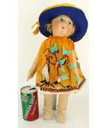 """Gorgeous  Antique French Cloth Gre Poir  18"""" Doll C1930  Adorable Lenci ... - $314.99"""