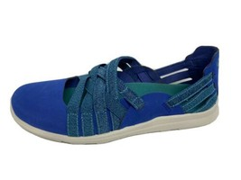 MERRELL J94844 Flora Kye Weave Flats Wo's 9 Eu 40 Blue Strappy Slip On Sz 7.5 - $41.42