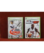 2 Lot XBOX Live 360 Games   Major League Baseball 2K6 & NBA 2K7 - $12.44