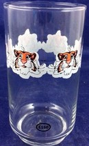 Vintage Esso Exxon Tiger Glass Repeating Small Tiger Face Petroliana Adv... - $20.69