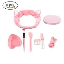 URfashion Facial Mask Bowl 10 in 1 Cat Shape Headband Spray Brush Stick ... - $12.57
