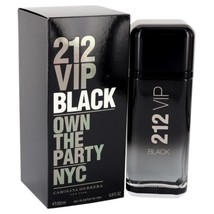 212 VIP Black by Carolina Herrera Eau De Parfum Spray 6.8 oz for Men - $158.95