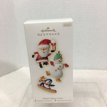 2008 Santa's Merry Crew 3Pc Hallmark Christmas Tree Ornament MIB Price Tag H2 - $18.32