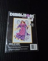 Dimensions Counted Cross Stitch 18 Ct Kit Angel of Light 5x7 Stitchery 6669  - $4.22