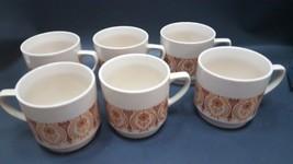 Vintage Retro Glaze Kun Lun cup mug coffee breakast mug cup orange red c... - $12.99
