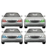for Lincoln Town Car 05-11 RGB Multi Color LED Halo kit for Headlights - $137.91