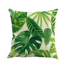 An item in the Home & Garden category: Leaves Pattern 2 Pillow Covers Cushion Throw Pillow Case for Sofa Decor