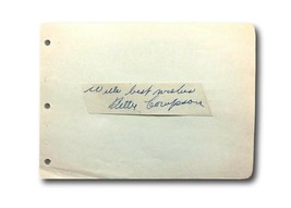 Betty Compson Hand Signed Album Page Cut JSA COA Autograph The Miracle Man - $55.21