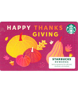 Starbucks 2020 Happy Thanksgiving Recyclable Collectible Gift Card New N... - $1.99