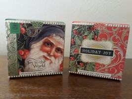 2 Michel Design Works Shea Butter Soap Bar Christmas Holiday Box NEW Unused - $11.88