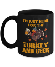 Thanksgiving Coffee Mug Funny Turkey And Beer Gift Mug Gift - $17.99