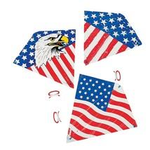 "USA Patriotic Kite Assortment (12 Pack) Plastic. 27"" X 28"". US Flag & Ea... - $17.09"