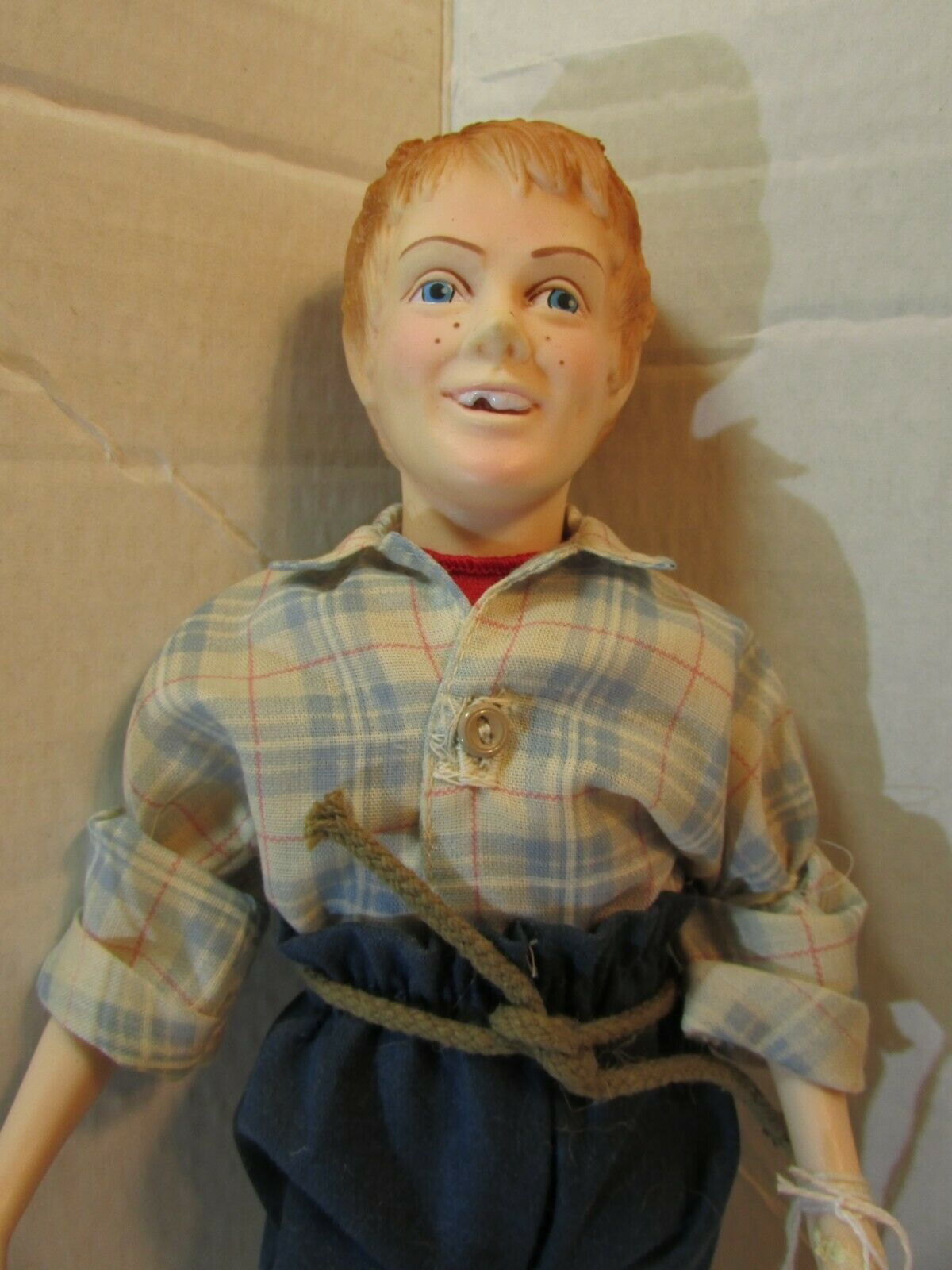 "Primary image for EFFANBEE 11"" DOLL w/BOX VINTAGE MARK TWAIN COLLECTION  SERIES HUCK FINN 7632"
