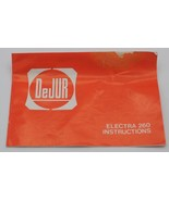 Vintage Dejur Electra 260 Flash Instruction Manuel - $8.90