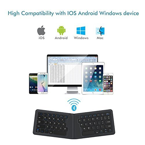 iClever Bluetooth Keyboard - Portable Keyboard for iPad Android Tablet