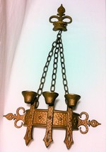 Vintage 1967 Sexton Cast Bronze Chain Candleholder - Like New - $42.99