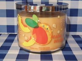 "Bath & Body Works ""PEACH BELLINI"" 3 Wick Candle Brand New - $16.29"