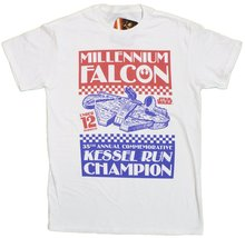 Men's Star Wars Millenium Falcon Kessel Run Champ T-Shirt (Large) - $17.77