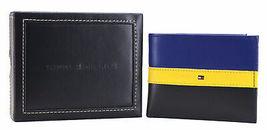Tommy Hilfiger Men's Leather Wallet Passcase Billfold Rfid Navy Black 31TL220053 image 10