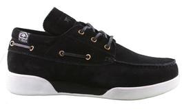 LRG Mangrove Black Leather Suede Boat Shoes Size 9 42 EUR NIB image 2