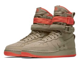 Nike Men's SF AF1 Air Force 1 Shoes (Khaki/Rush Coral) NIB 864024-205 $180 - $69.99