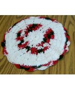 Large Hot Pad, Crochet, Handmade, Kitchen Decor, Double Thick, Gift, Red... - $14.00
