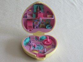 1994 Polly Pocket Strollin' Baby Bluebird Quilted Yellow Heart Compact -... - $21.99