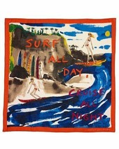 Juicy Couture Raw Silk Scarf Surf All Day Cruise All Night - $47.52