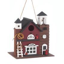#10016851 *Fire Station Wood Bird House* - £17.98 GBP